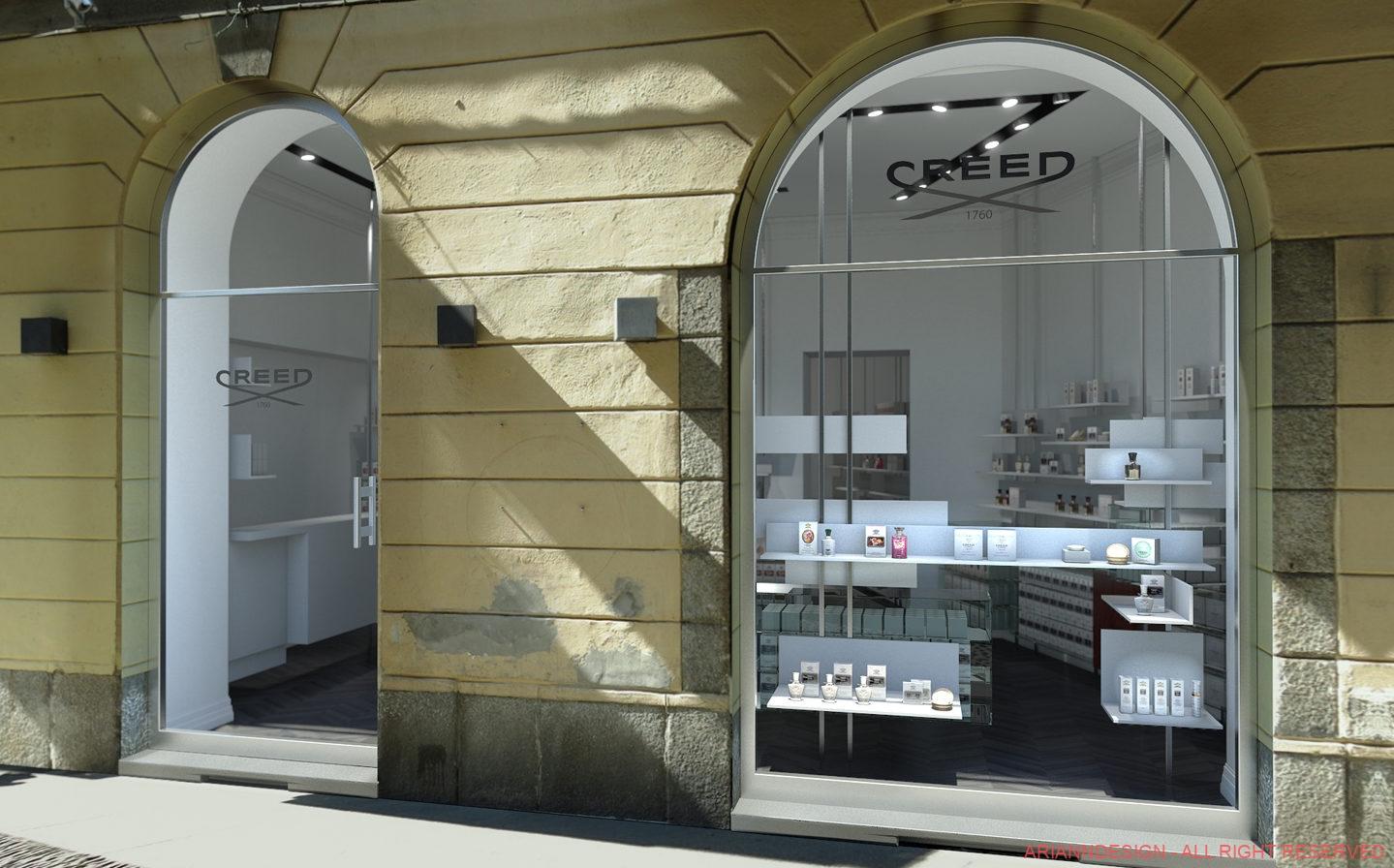 Rendering Concept Store per C+Farinaro Architetti