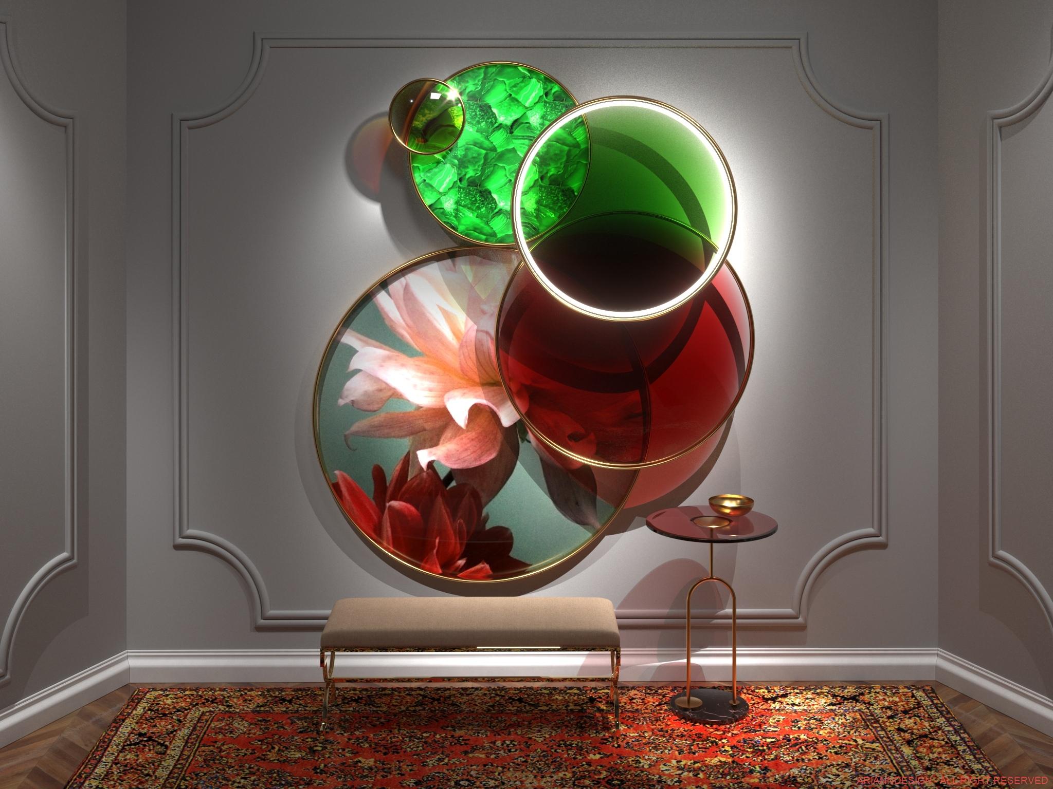 Pannello decorativo a cerchi