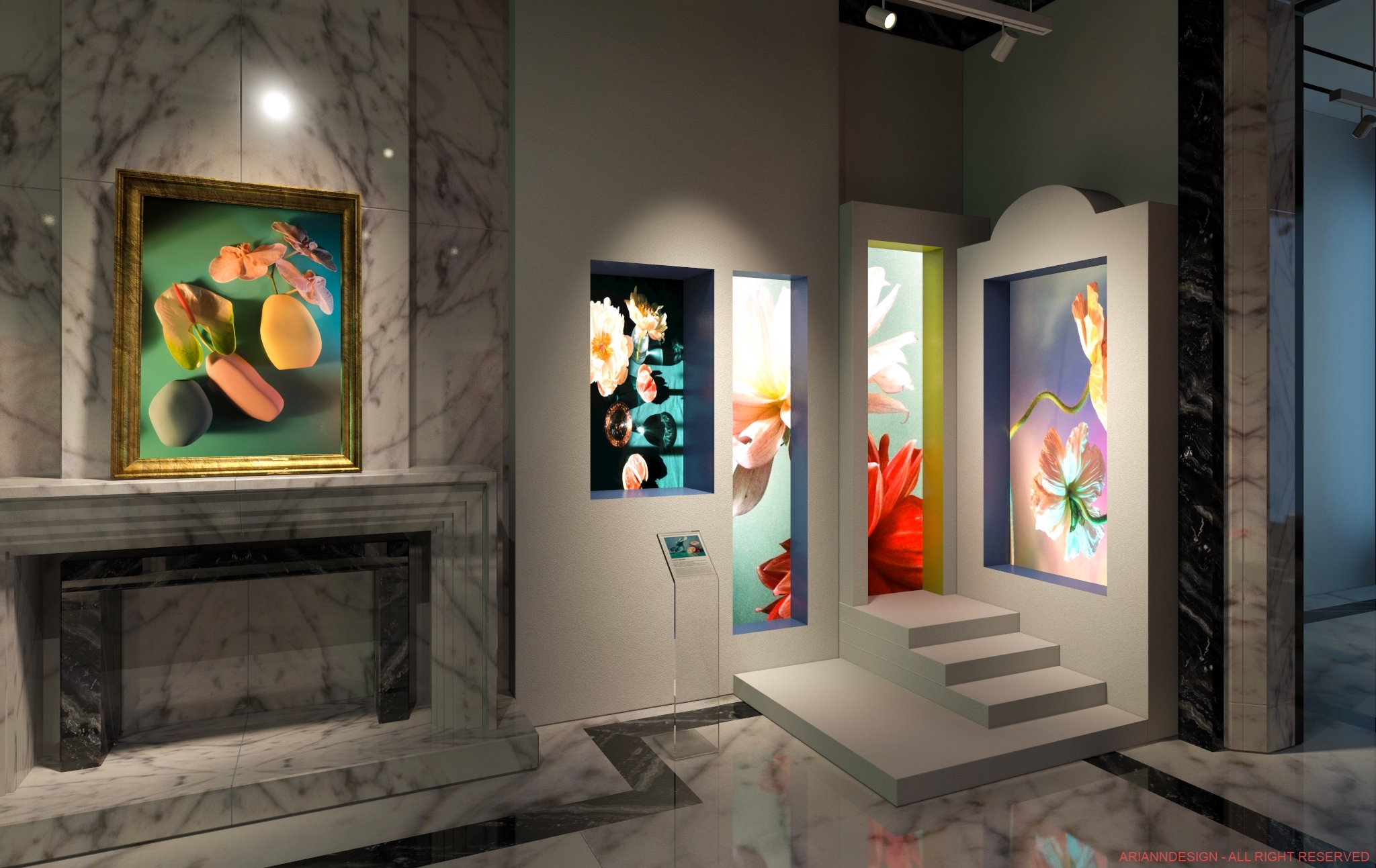Expo d'arte in appartamento privato